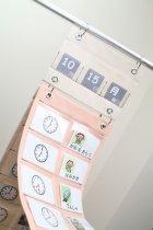 他の写真1: スケジュールポケット3点セット【時計・日にち・曜日カード付き】